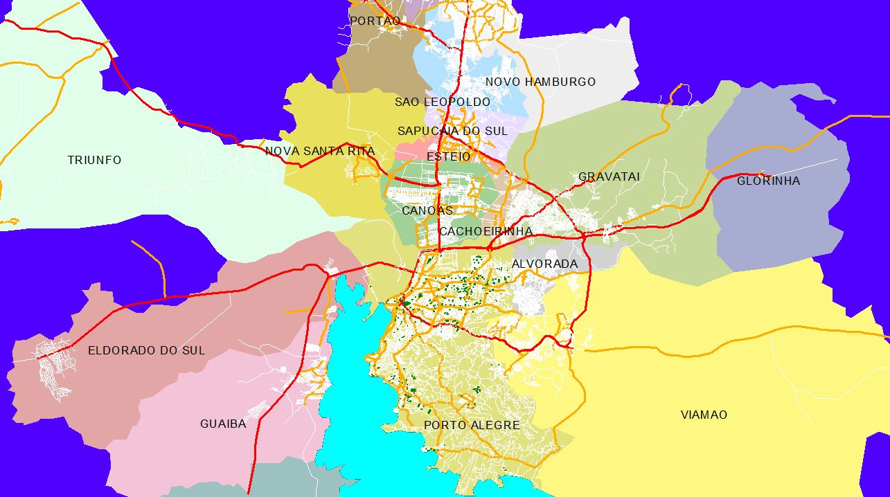 mapa digital porto Mapas Digitais de ruas da Grande Porto Alegre – IDC – Intelligent  mapa digital porto